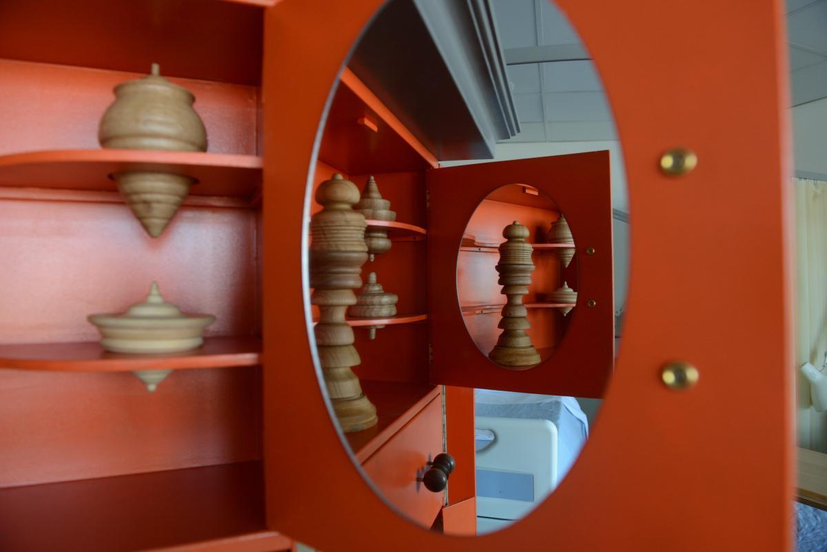 Inside an interactive sculpture on a ward